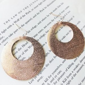 ROSE GOLD DIANNA STATEMENT HOOPS